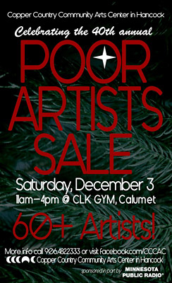 Poor Artists Sale is Dec. 3 in Calumet
