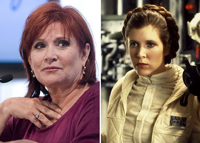 Carrie Fisher as Princess Leia Star Wars 7