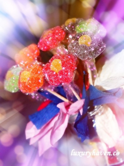 flower gummies bouquet handicraft teachers day