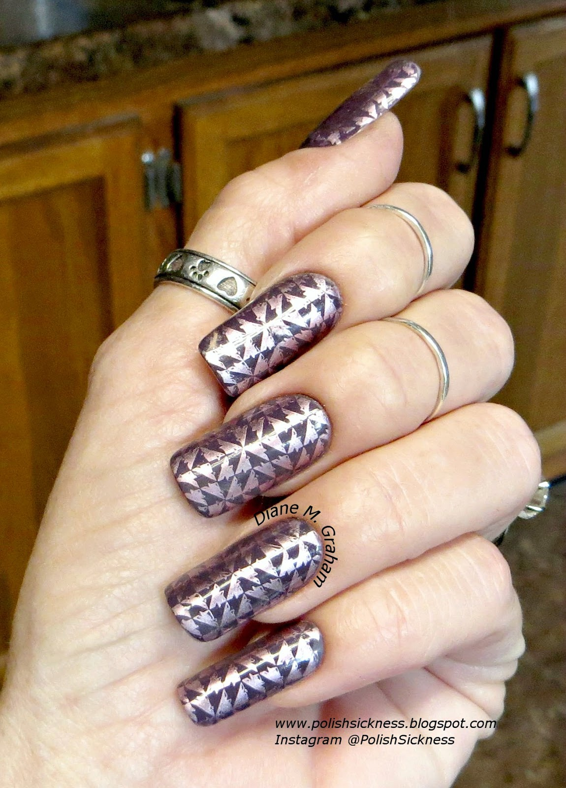 Julep Gabrielle, China Glaze Admire, Bundle Monster BM-XL04 stamp