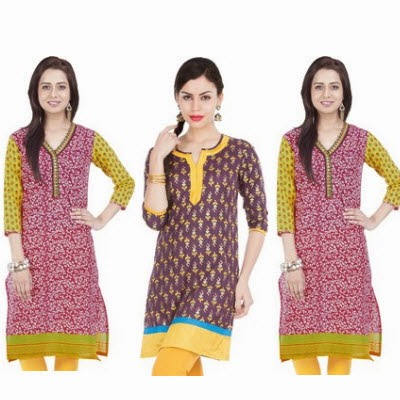 Flipkart: Buy Zovi Casual Printed Kurti upto 80% off from Rs.173