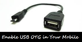 Enable USB OTG in Mobile
