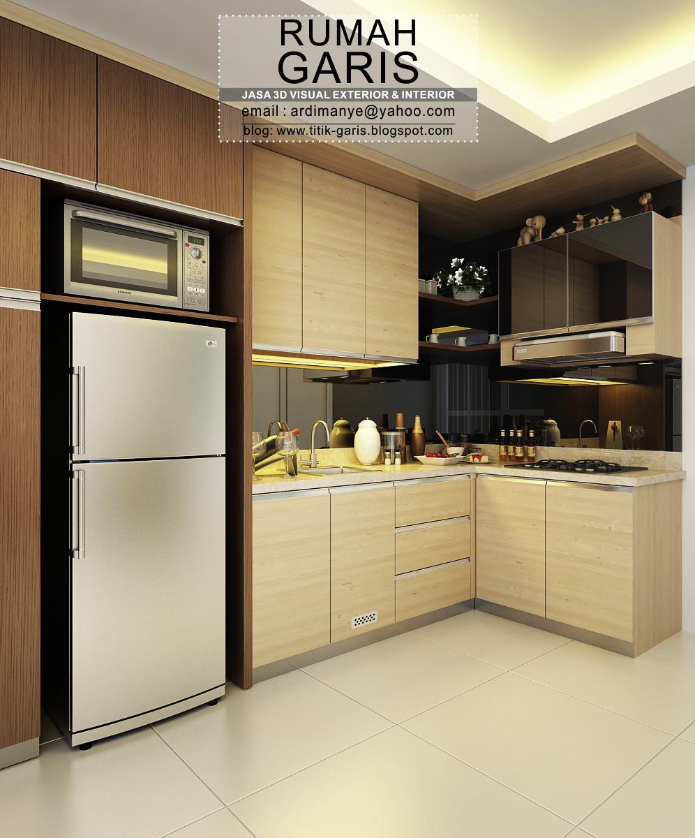 Desain ruang wardrobe konsep putih modern klasik 2 desain for Desain kitchen set
