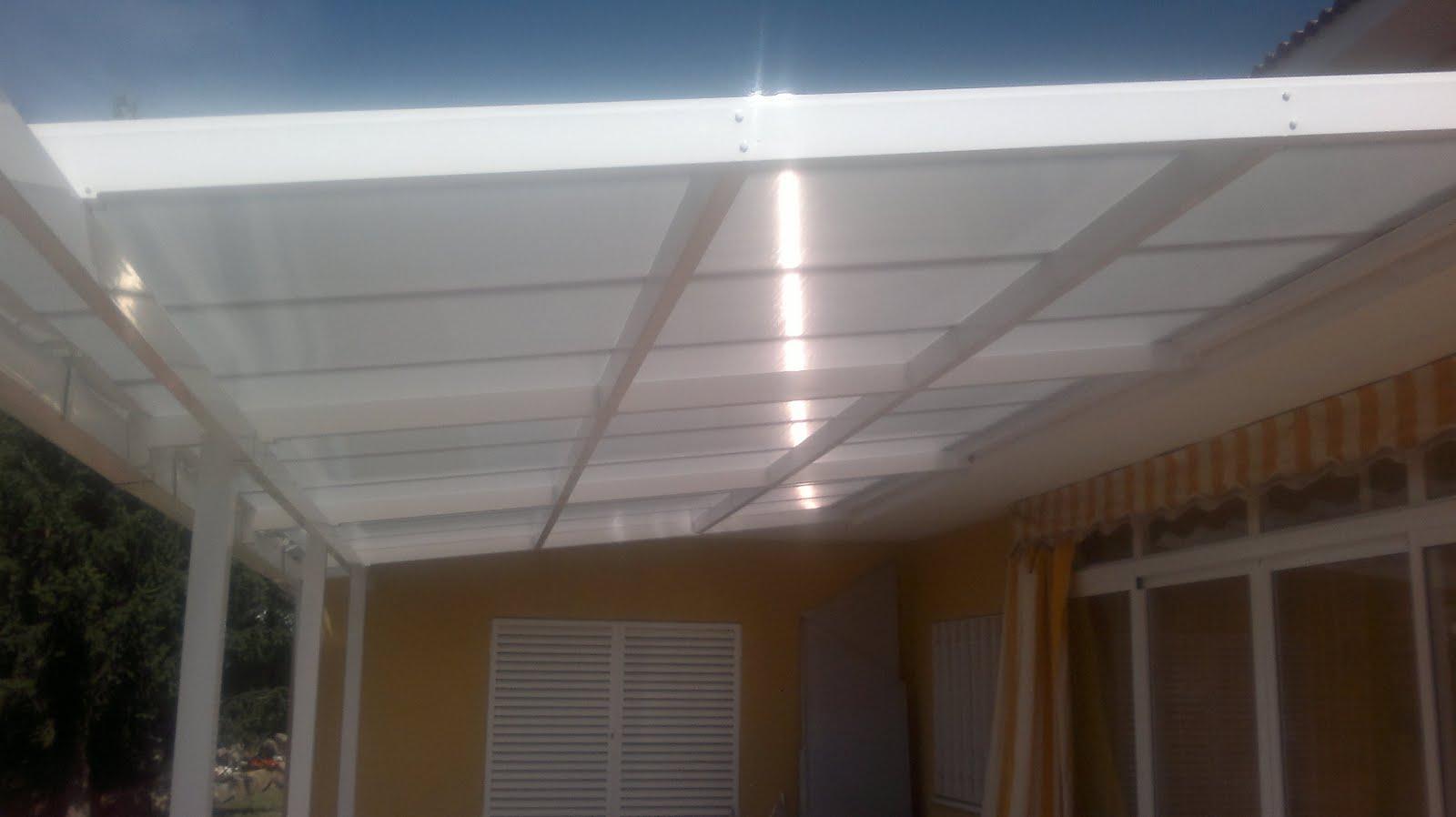 Aluminios clades cubiertas - Techo transparente policarbonato ...