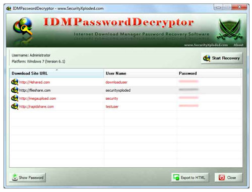 Free Download IDM Password Decryptor