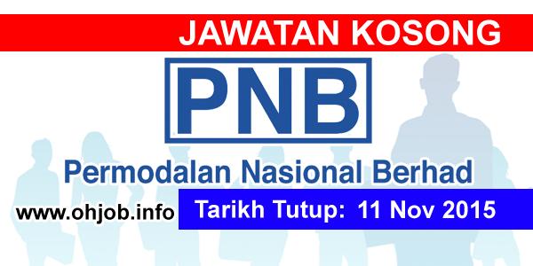 Jawatan Kerja Kosong Permodalan Nasional Berhad (PNB) logo www.ohjob.info november 2015