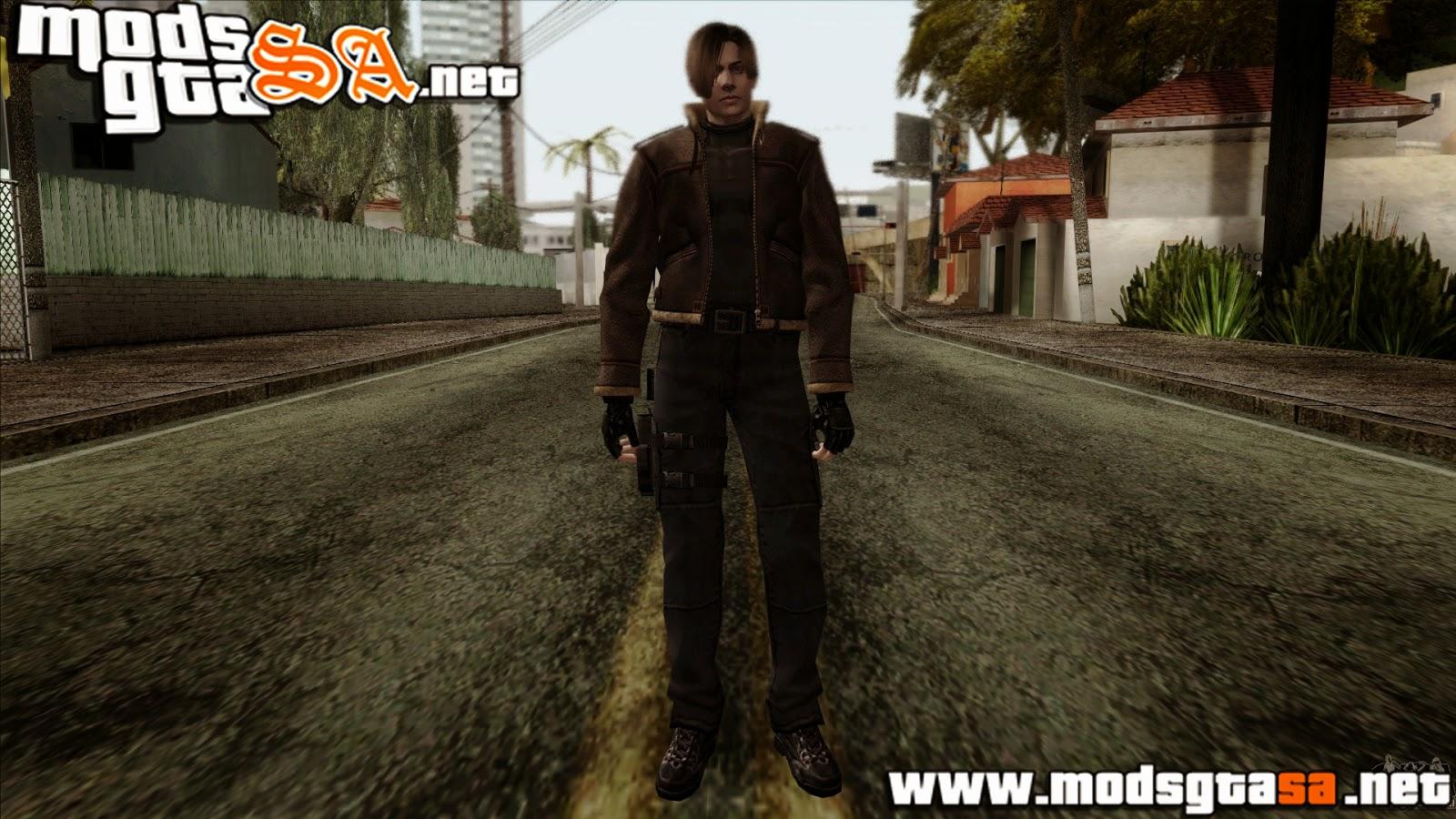 SA - Skin Leon Scott Kennedy do Resident Evil 4