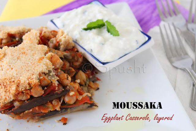 Spusht | Moussaka eggplant casserole layered