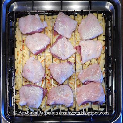 Рецепт утка с картошкой. в духовке.