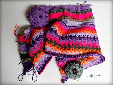 Eh oui, c'est tricoté à la main...