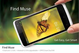 Oppo Find Muse, Ponsel Android Dual Core Harga Dibawah 2 Jutaan