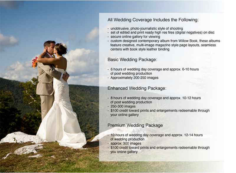 Wedding Photography Packages And Info
