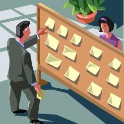 homme qui recherche un emploi (illustration)