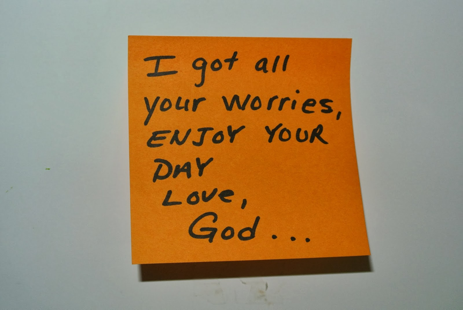 It s all about him the sticky note