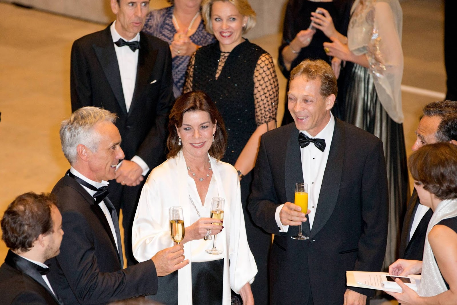 Princess Caroline of Monaco attends a charity evening at the Rijksmuseum in Amsterdam