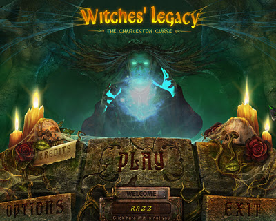 Witches' Legacy: The Charleston Curse Collector's Edition Main Menu