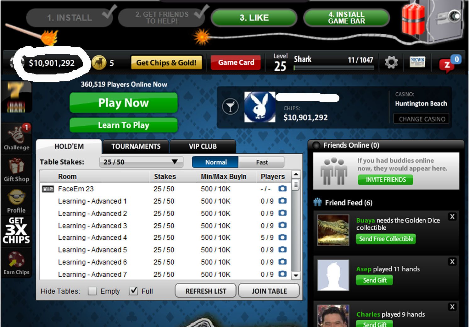 Hacker poker zynga