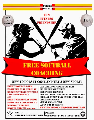 Dorset Softball Free Coaching Weymouth Dorchester Starting in April 2014