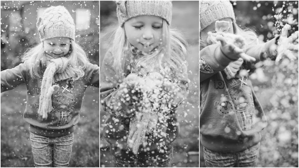 Child Snowy Portrait session , Wanstead Photography service