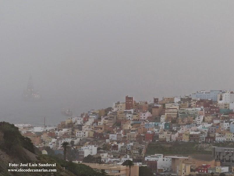 fotos calima Canarias enero 2015 Las palmas