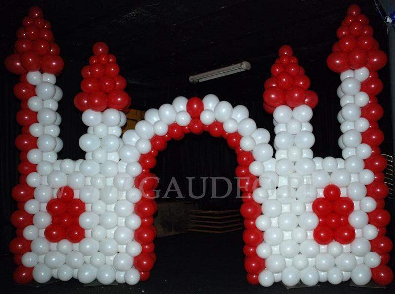 Castelo Balão Vermelho e Branco
