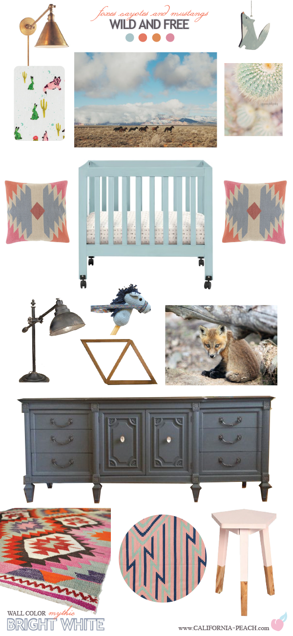 Wild and Free || Nursery Baby Room Style Board