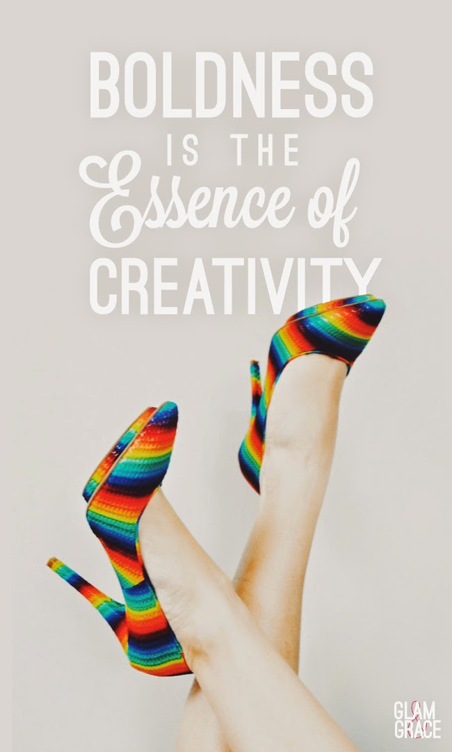 Boldness is the Essence of Creativity - Jeffrey Campbell Rainbow Shoes