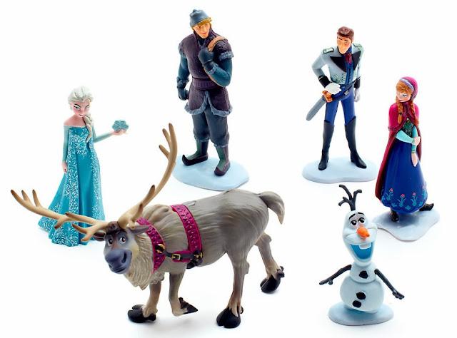 Figuras PVC de Frozen Disney Store set completo
