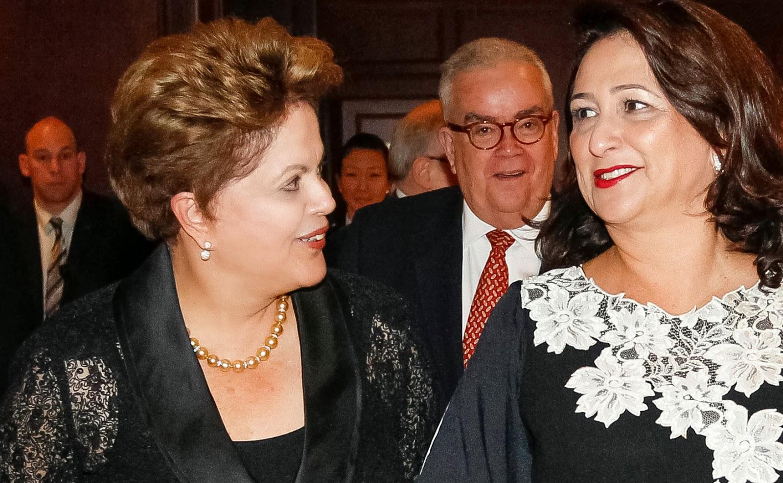 Kátia Abreu & Dilma Rousseff, February 2014.