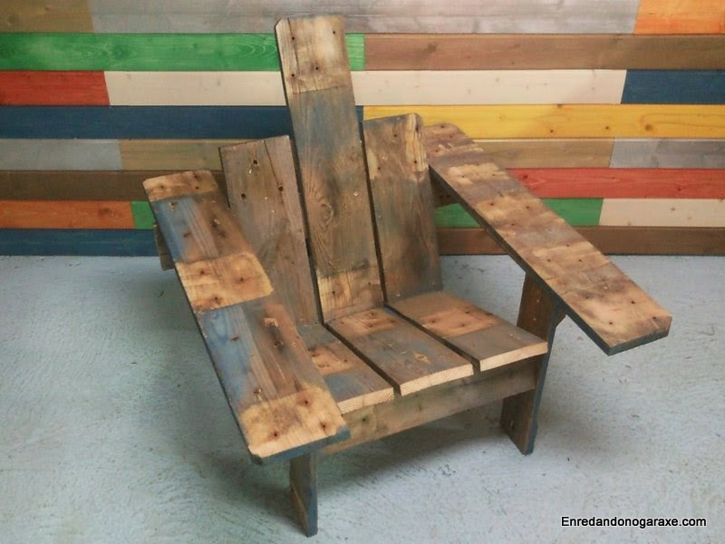 1000 images about sillas on pinterest pallet chair for Sillas hechas de palets