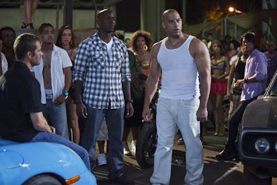 Tyrese Gibson Paul Walker and Vin Diesel in Fast Five