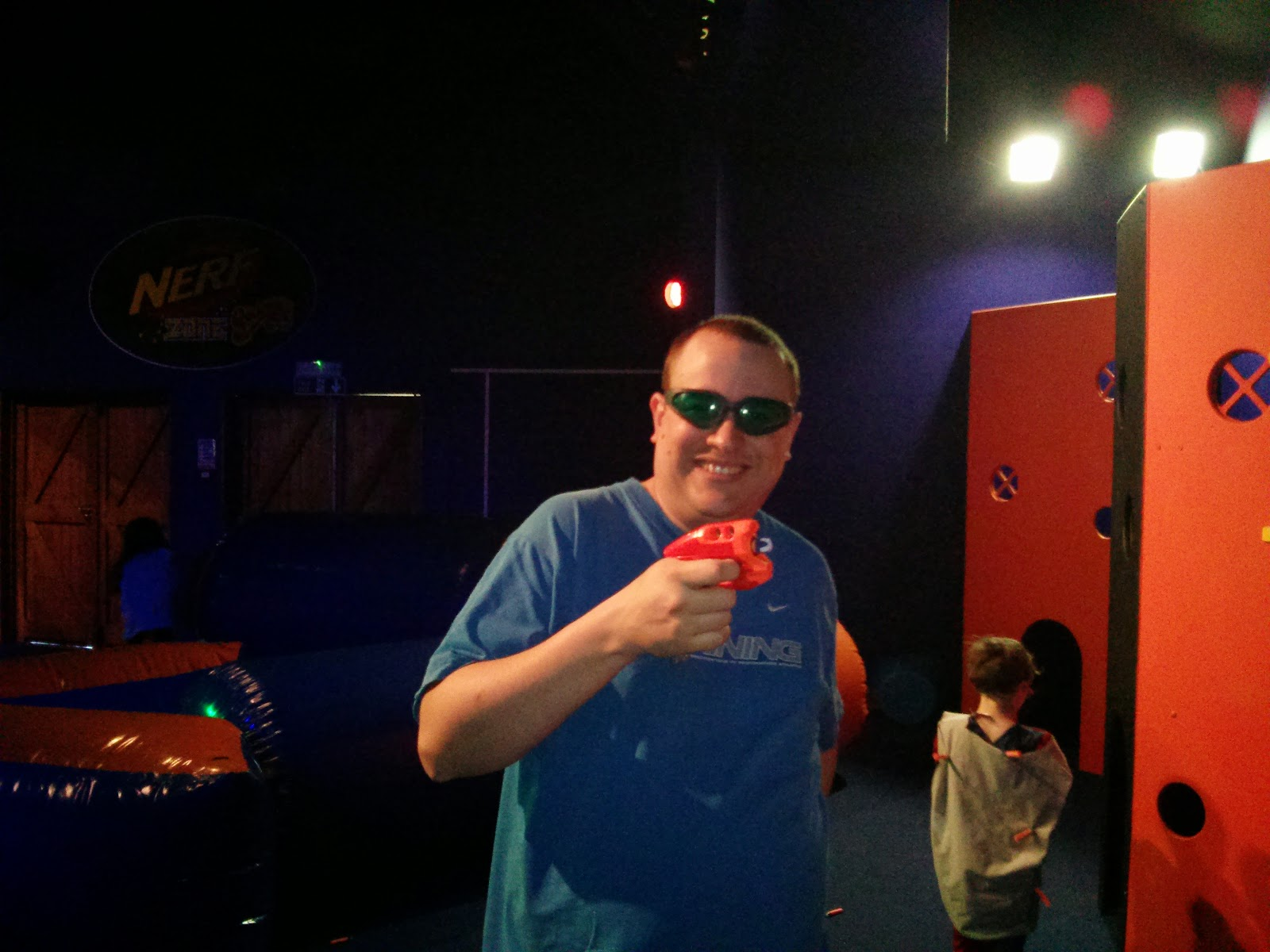 Daddy at the Nerf Party Gullivers Land Milton Keynes