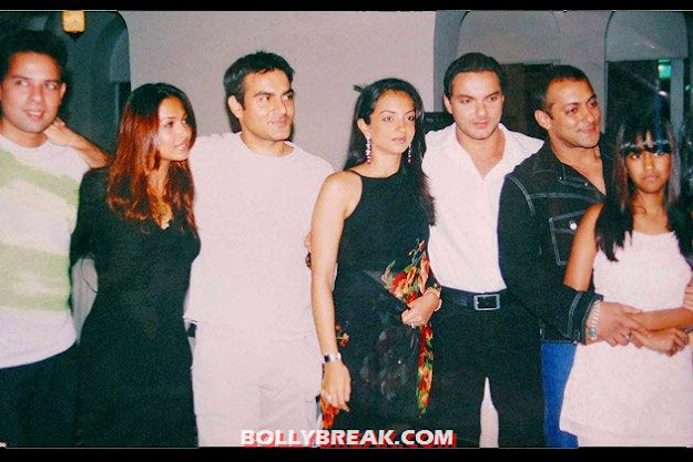 malaika with the khan brothers  - Malaika Arora Khan- Rare photos