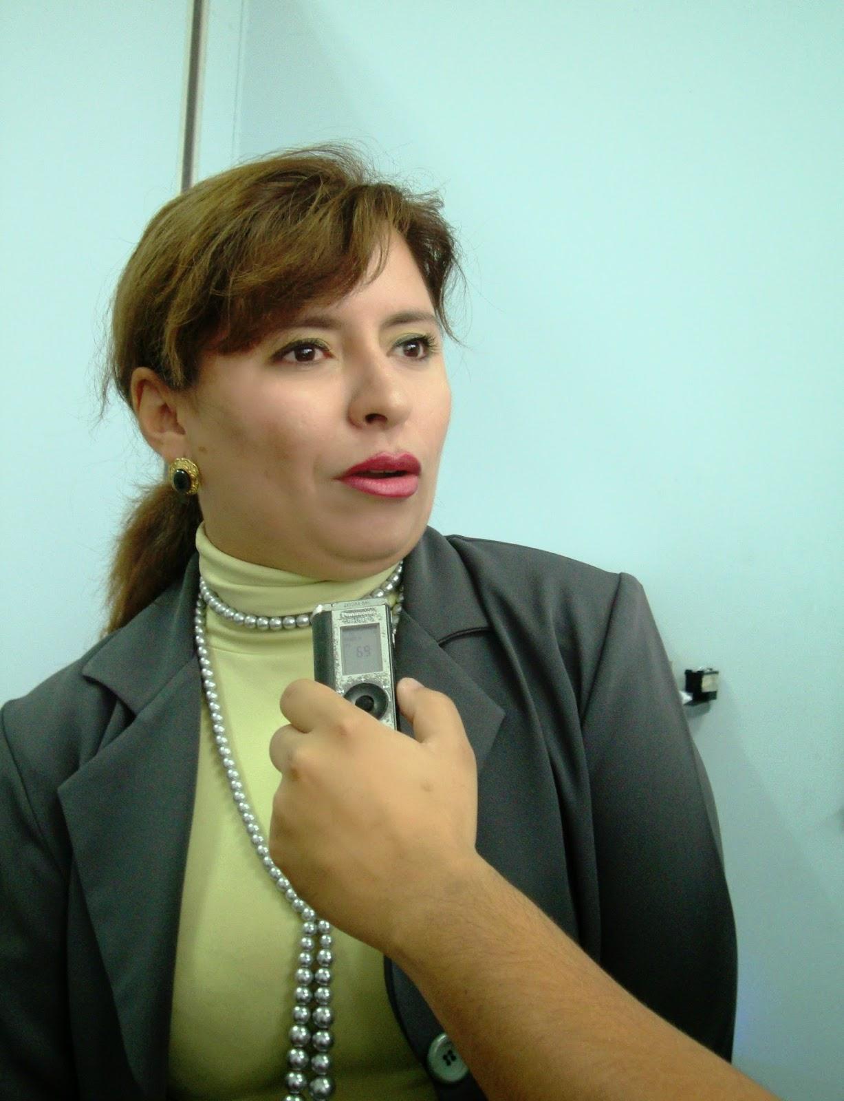 Profa. Claudia Torres, docente del Departamento de Computación e Informática de la ULA-Táchira. (Fotografía: María Virginia Vivas Salinas)