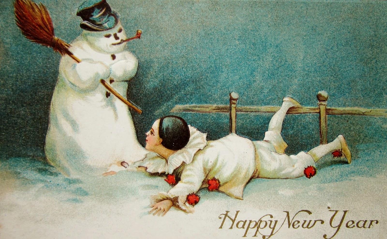 Vintage Snowman Postcards 7
