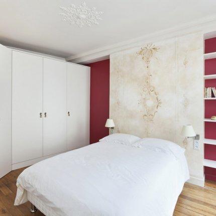 Boiserie c trasformare uno studio di 36 mq in un - Arredare camera da letto 9 mq ...