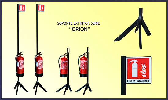 Soportes de pié para extintores serie ORION