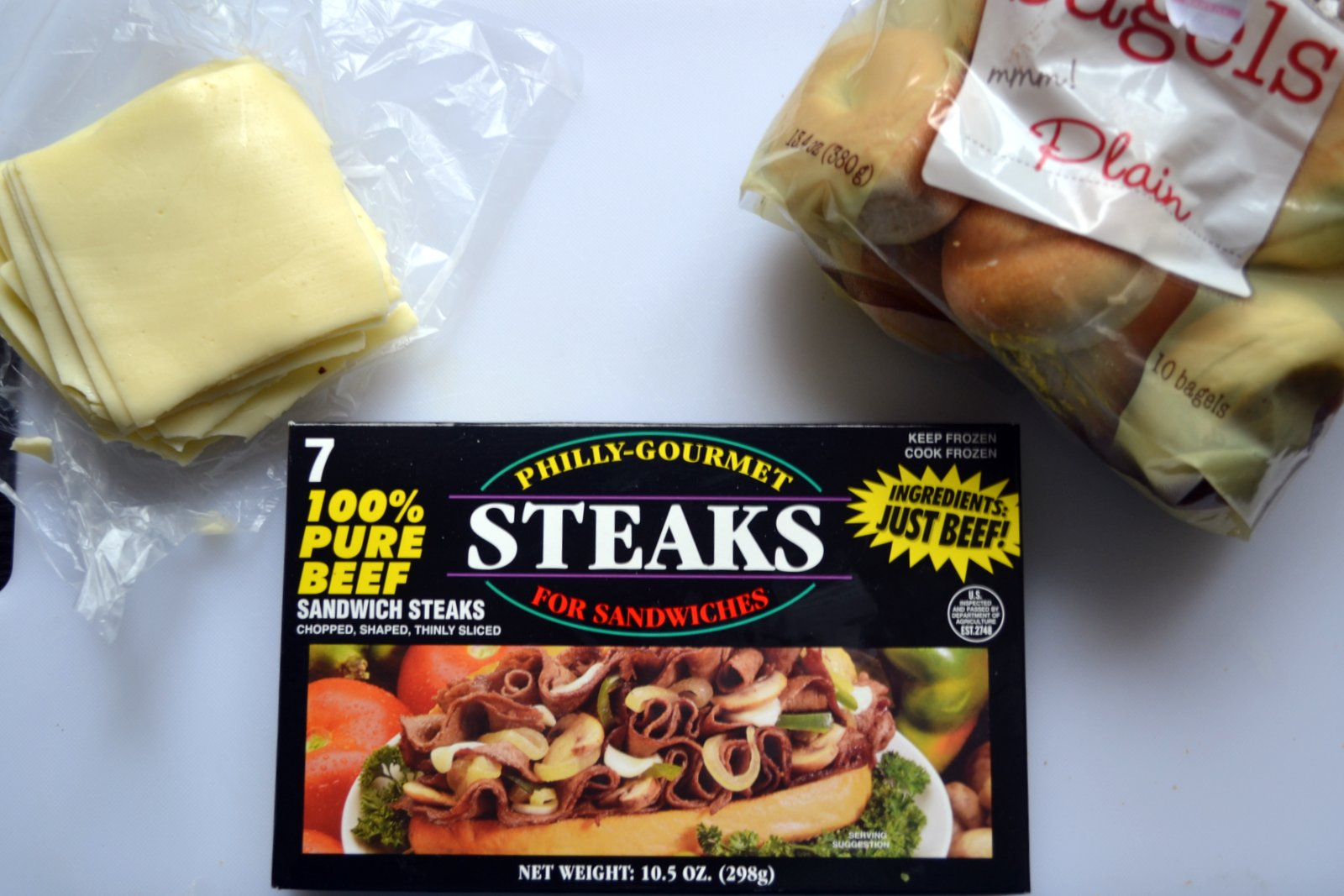 Hardly Housewives: Philly Cheese Steak Bagel Bites