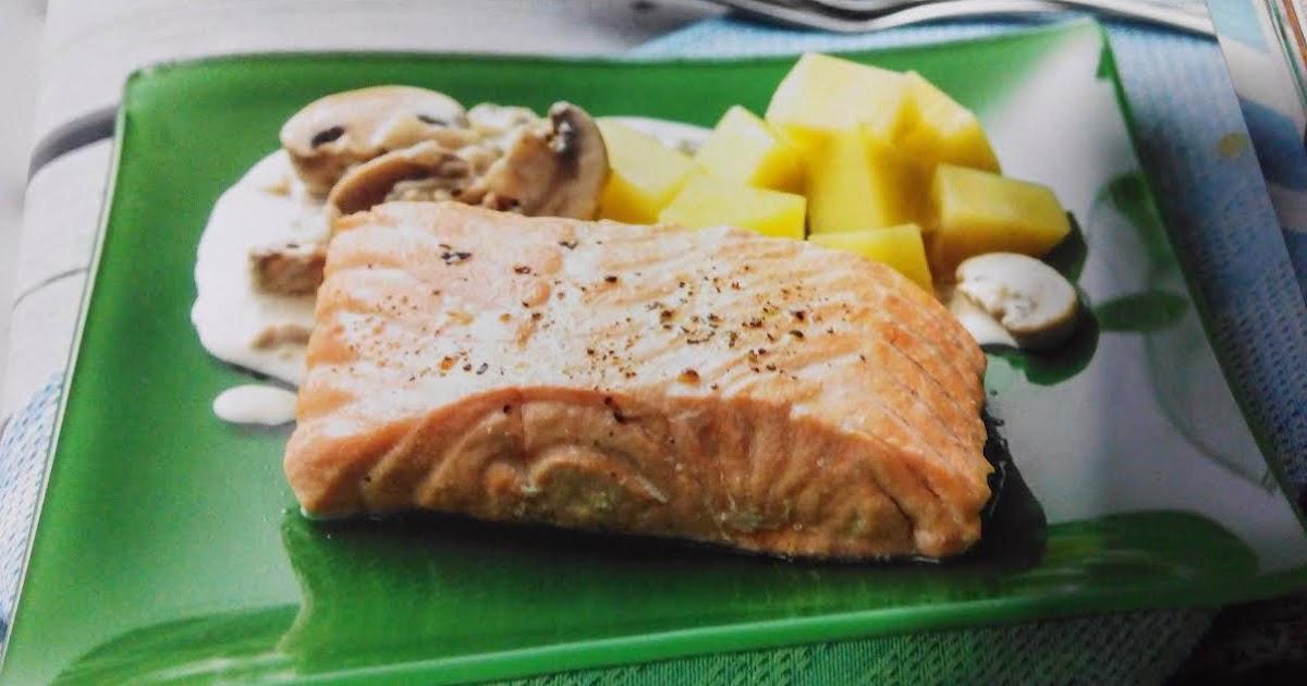 Recetas para tu thermomix desde canarias salm n con - Salmon con champinones ...