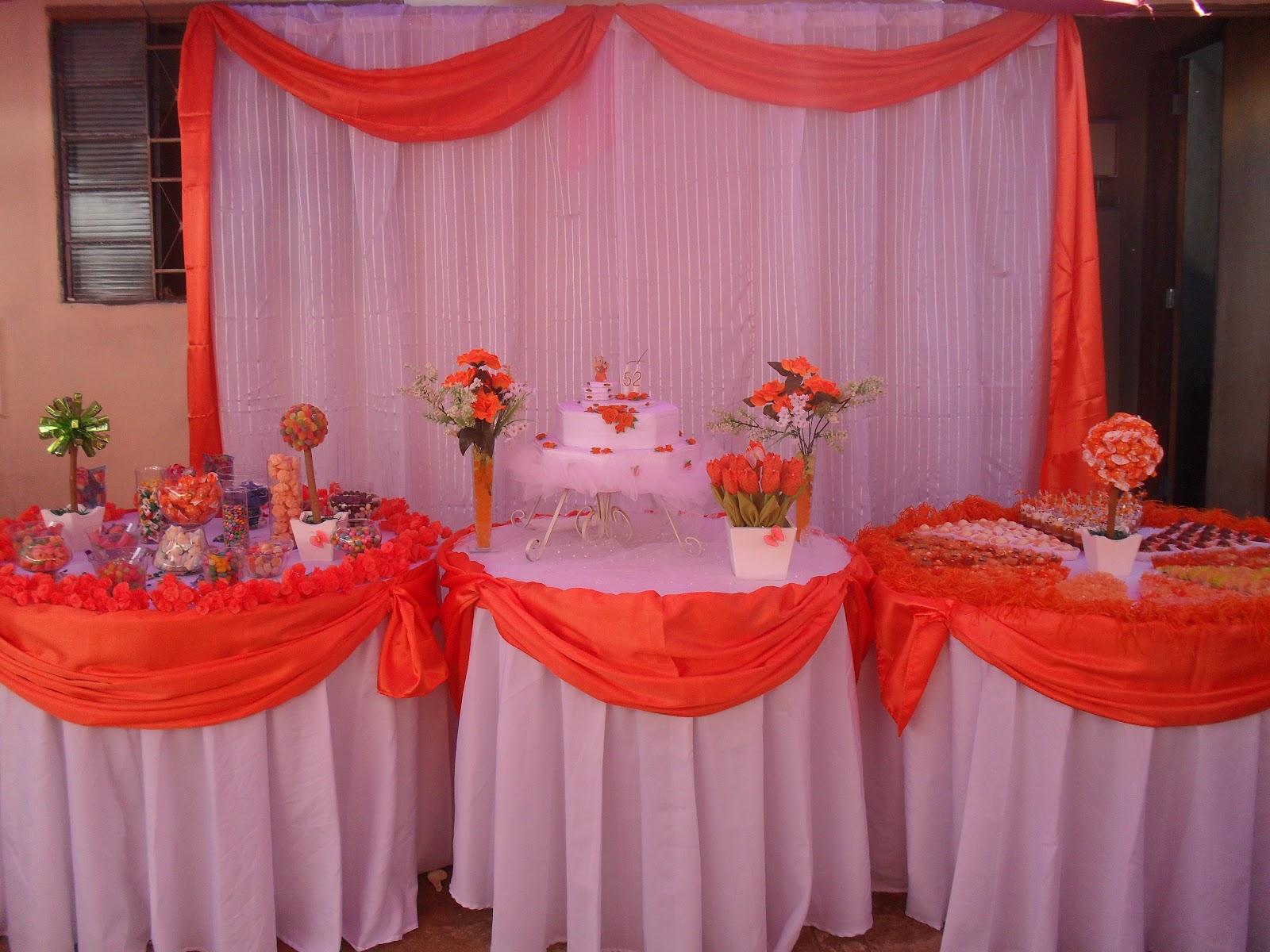 Arte em festas: Decoração laranja e branco #AC261F 1600x1200 Banheiro Branco E Laranja