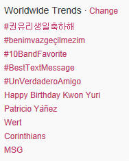 Yuri Birthday Trending Topic Twitter 2