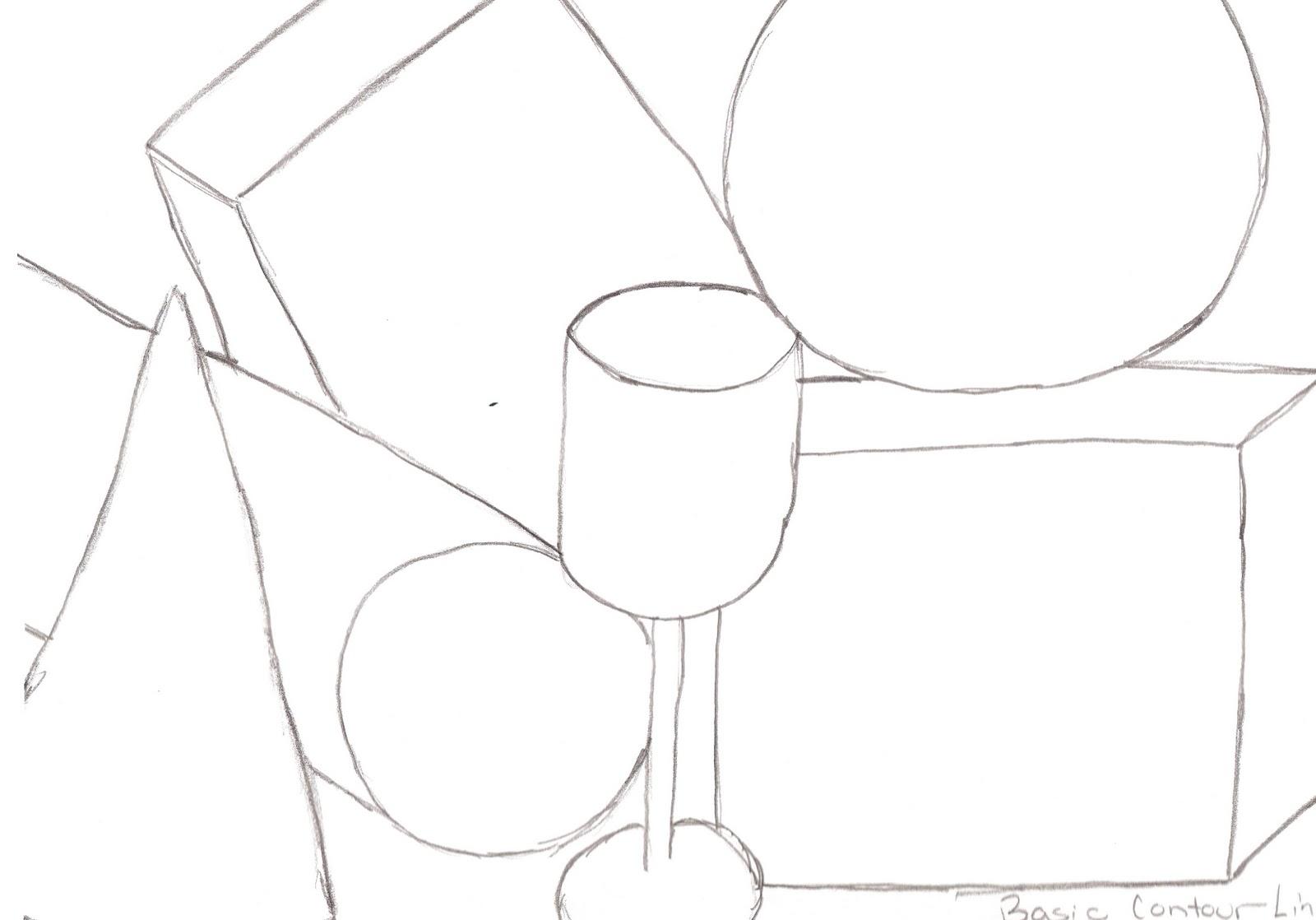 Contour Line Drawing Quiz : Alisha s basic white paper contour drawing