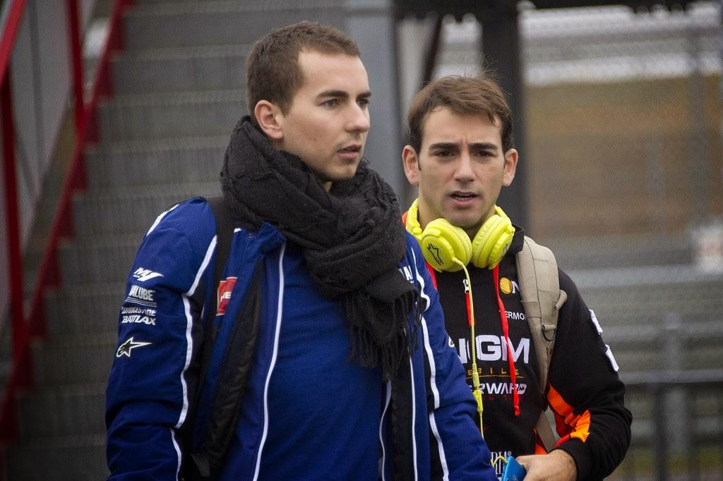 Ricky Cardus y Jorge Lorenzo