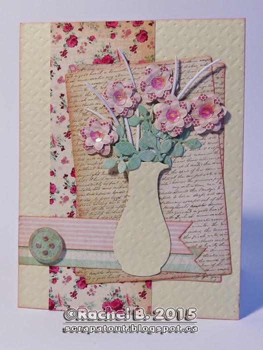 Handmade card, Impression Obsession, Flowers