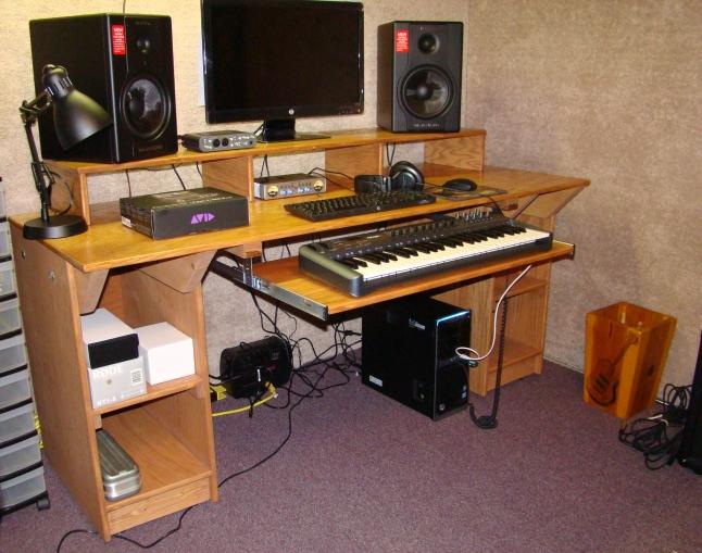 pdf diy studio workstation desk plans download table plans rustic woodideas. Black Bedroom Furniture Sets. Home Design Ideas