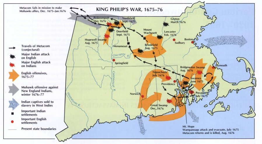 a history of king philips war Although it is not as well known as the american revolution or the civil war, king philip's war was one of the deadliest wars in american history the war.