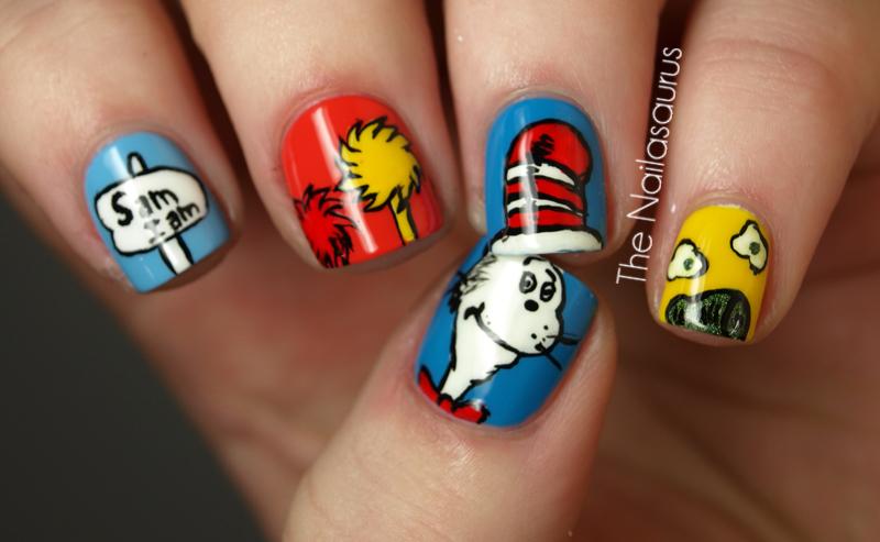 Dr Seuss Nail Art! - The Nailasaurus | UK Nail Art Blog