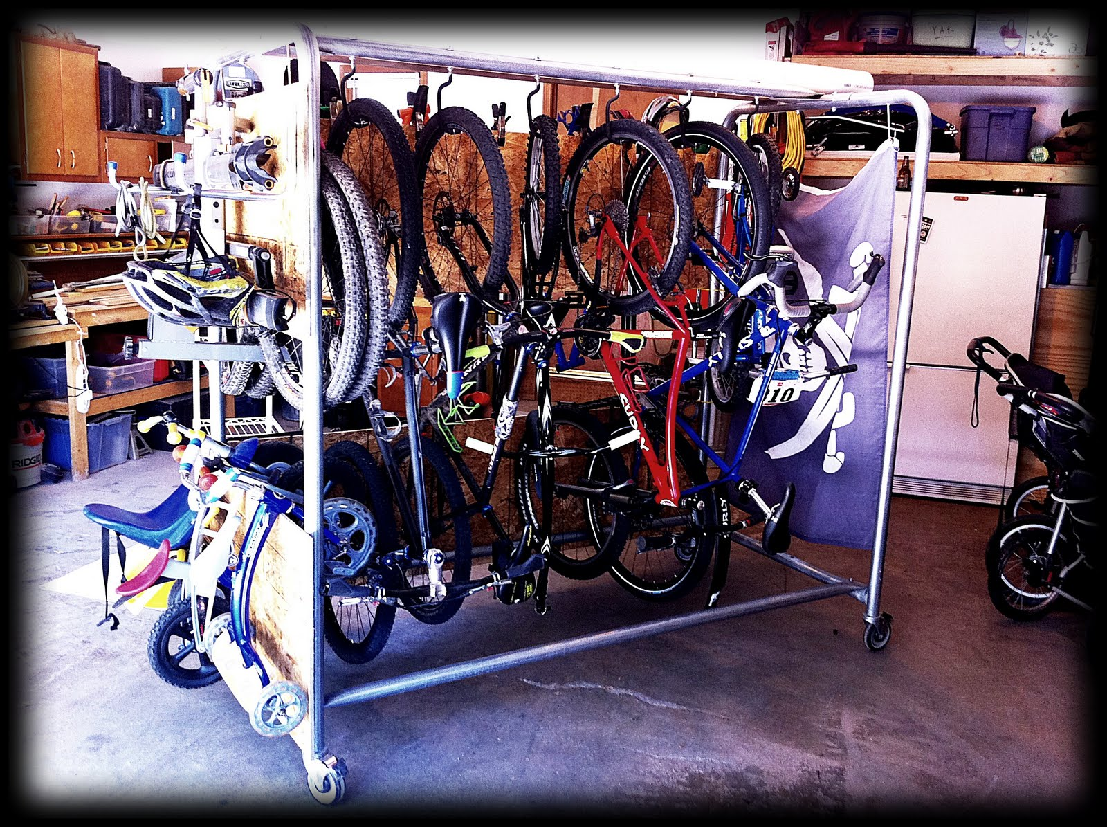 Exceptionnel My Garage...Oh How It Was A Freakinu0027 Disaster Zone. I Had Things With  Wheels All Over The Godforsaken Place. I Needed A Storage Solution;  Something That Was ...