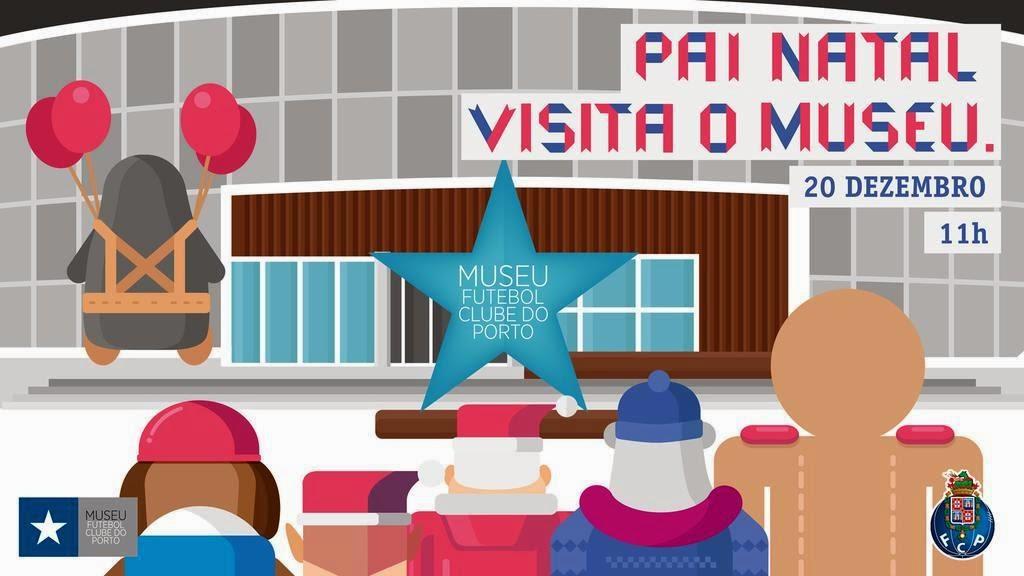 Pai Natal visita museu