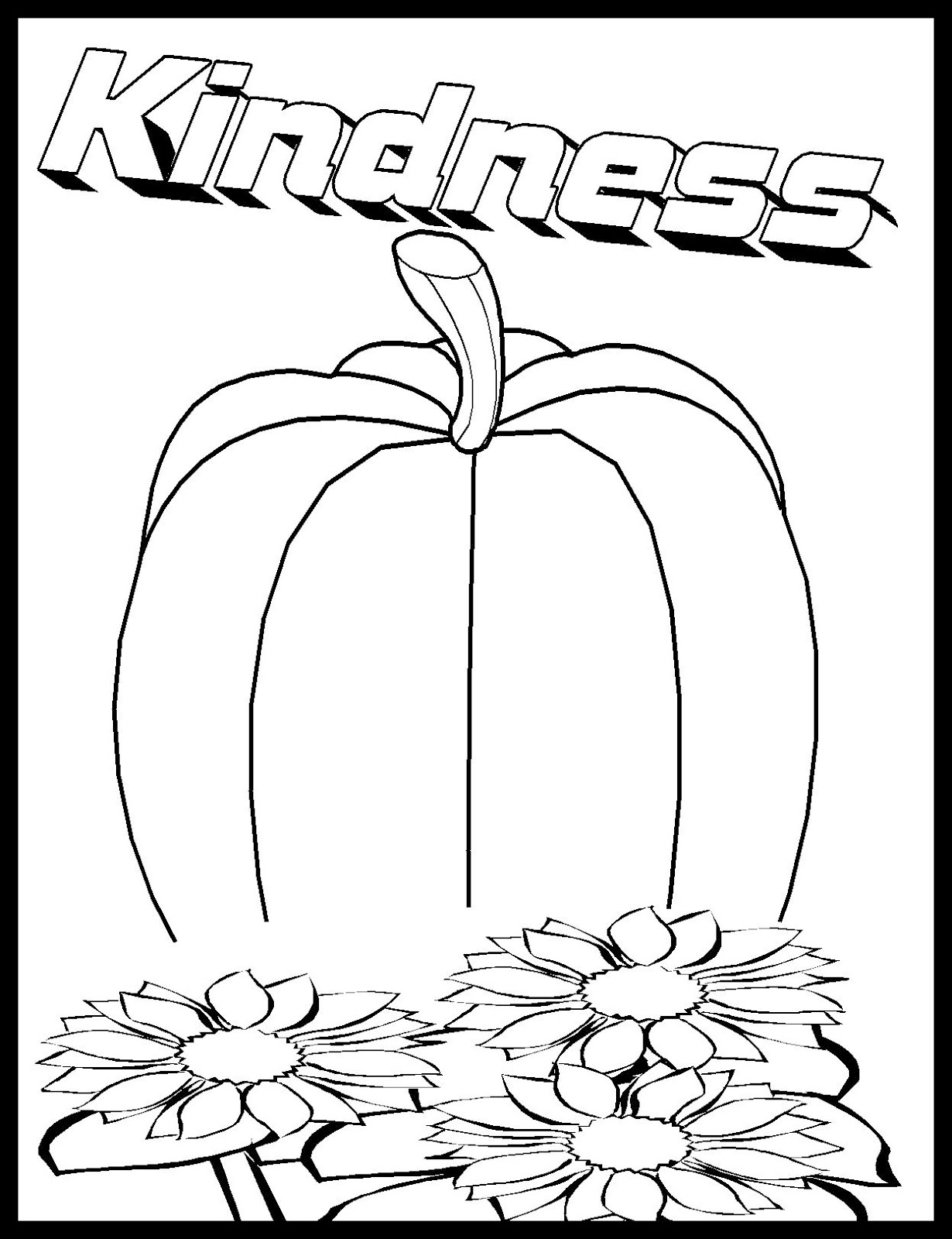 kindness coloring pages free - photo#5